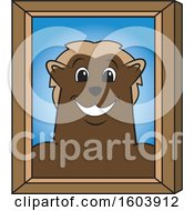 Clipart Of A Wolverine School Mascot Character Portrait Royalty Free Vector Illustration