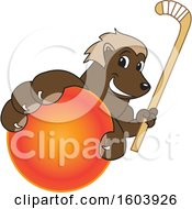 Clipart Of A Wolverine School Mascot Character Royalty Free Vector Illustration by Toons4Biz