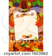 Clipart Of A Thanksgiving Border Royalty Free Vector Illustration