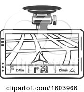 Clipart Of A Car Gps Device Royalty Free Vector Illustration