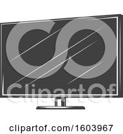 Clipart Of A Computer Screen Royalty Free Vector Illustration