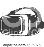 Clipart Of Virtual Reality Goggles Royalty Free Vector Illustration