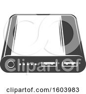 Clipart Of A Hard Drive Or Usb Port Royalty Free Vector Illustration
