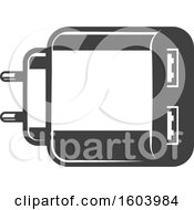 Clipart Of A Usb Charger Royalty Free Vector Illustration