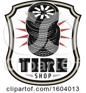 Clipart Of A Tire Shop Design Royalty Free Vector Illustration by Vector Tradition SM