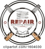 Clipart Of A Repair Design With Rasps Royalty Free Vector Illustration by Vector Tradition SM