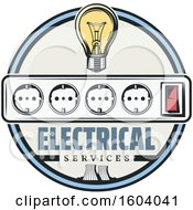 Clipart Of A Round Electrical Design Royalty Free Vector Illustration