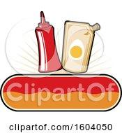 Clipart Of A Mayo And Ketchup Design Royalty Free Vector Illustration