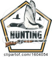 Clipart Of A Duck Hunting Design Royalty Free Vector Illustration