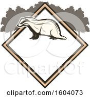Badger And Diamond Design