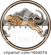 Leaping Cheetah And Circle Design
