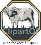 Clipart Of A Buffalo Design Royalty Free Vector Illustration by Vector Tradition SM