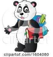 Clipart Of A Student Panda Royalty Free Vector Illustration