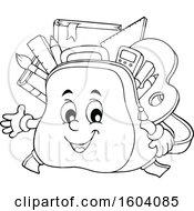 Poster, Art Print Of Lineart School Bag Mascot