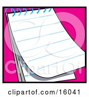 Lined Pages Of A Blank Notepad Clipart Illustration