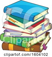 Clipart Of A Stack Of Books Royalty Free Vector Illustration