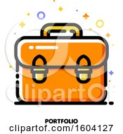 Clipart Of A Briefcase Portfolio Icon Royalty Free Vector Illustration