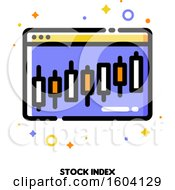 Poster, Art Print Of Stock Index Candlestick Chart Icon