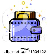 Clipart Of A Wallet Icon Royalty Free Vector Illustration