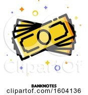 Clipart Of A Cash Money Banknotes Icon Royalty Free Vector Illustration