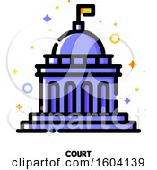 Clipart Of A Court Icon Royalty Free Vector Illustration