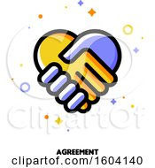 Clipart Of A Handshake Agreement Icon Royalty Free Vector Illustration