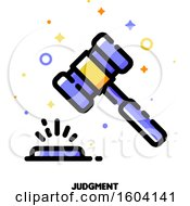 Banging Gavel Judgment Icon