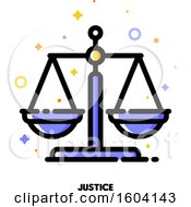 Clipart Of A Justice Scales Icon Royalty Free Vector Illustration