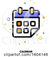 Clipart Of A Calendar Icon Royalty Free Vector Illustration