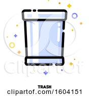 Clipart Of A Trash Bin Icon Royalty Free Vector Illustration