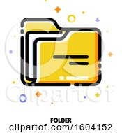 Clipart Of A Folder Icon Royalty Free Vector Illustration