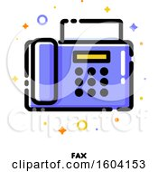 Clipart Of A Fax Machine Icon Royalty Free Vector Illustration