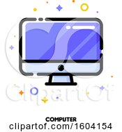 Clipart Of A Computer Icon Royalty Free Vector Illustration