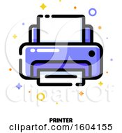 Clipart Of A Printer Icon Royalty Free Vector Illustration