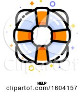 Clipart Of A Life Saver Help Icon Royalty Free Vector Illustration