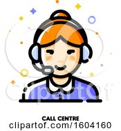 Clipart Of A Call Centre Icon Royalty Free Vector Illustration