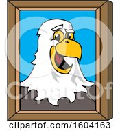 Clipart Of A Bald Eagle School Mascot Character Portrait Royalty Free Vector Illustration