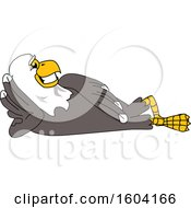 Clipart Of A Bald Eagle School Mascot Character Relaxing Royalty Free Vector Illustration by Toons4Biz