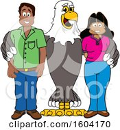 Clipart Of A Bald Eagle School Mascot Character With Parents Royalty Free Vector Illustration