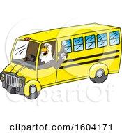 Poster, Art Print Of Bald Eagle School Mascot Character Driving A School Bus