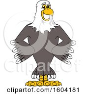 Clipart Of A Bald Eagle School Mascot Character With Hands On His Hips Royalty Free Vector Illustration