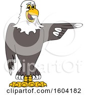 Clipart Of A Bald Eagle School Mascot Character Pointing Royalty Free Vector Illustration