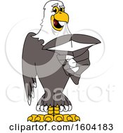 Clipart Of A Bald Eagle School Mascot Character Royalty Free Vector Illustration