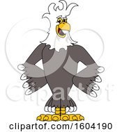 Clipart Of A Bald Eagle School Mascot Character With A Mohawk Royalty Free Vector Illustration by Toons4Biz
