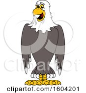 Clipart Of A Bald Eagle School Mascot Character Royalty Free Vector Illustration by Toons4Biz