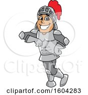 Clipart Of A Knight School Mascot Character Leaning Royalty Free Vector Illustration by Toons4Biz