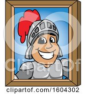 Clipart Of A Knight School Mascot Character Portrait Royalty Free Vector Illustration