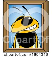 Clipart Of A Hornet Or Yellow Jacket School Mascot Character Portrait Royalty Free Vector Illustration