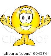Poster, Art Print Of Smiley Emoji School Mascot Character Welcoming
