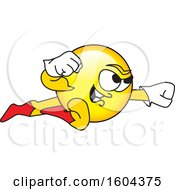 Clipart Of A Smiley Emoji School Mascot Character Super Hero Royalty Free Vector Illustration